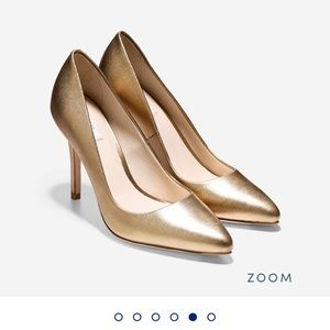 Cole Haan OS Grand gold heels 6.5
